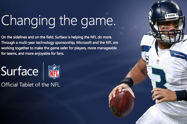 Microsoft Surface in NFL