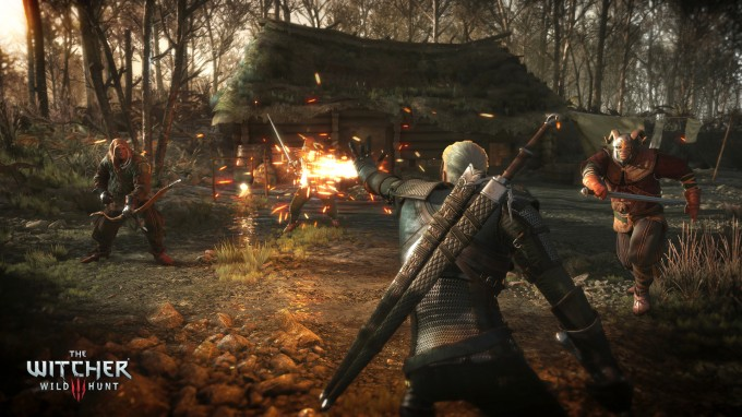 The Witcher 3 Wild Hunt - Geralt Torching His Enemies