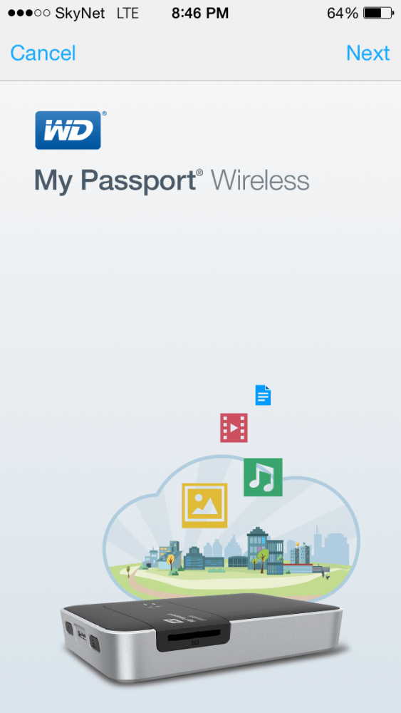 WD My Passport Wireless App