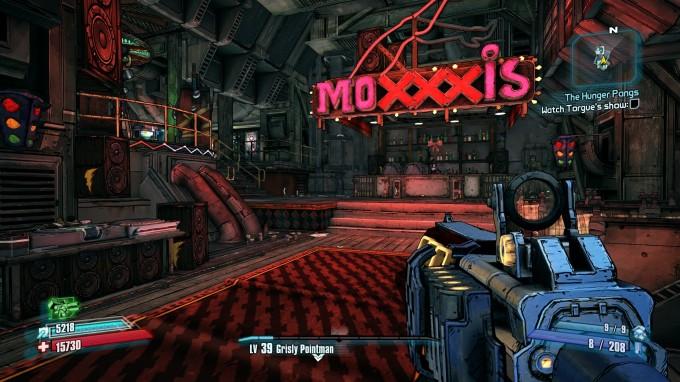 Borderlands 2 Under Linux - Moxxi Bar
