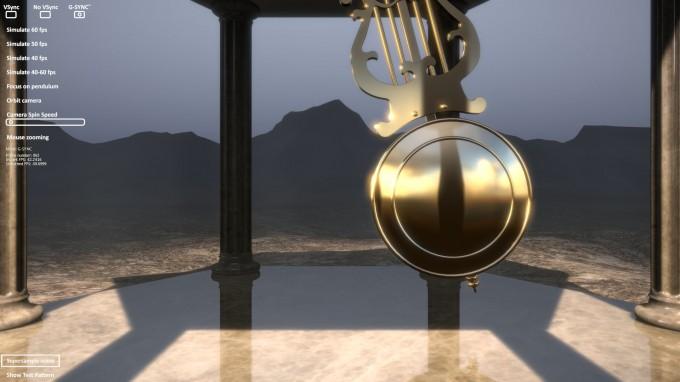 NVIDIA G-SYNC Pendulum Demo