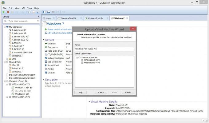 VMware Uploading VM to vCloud Air