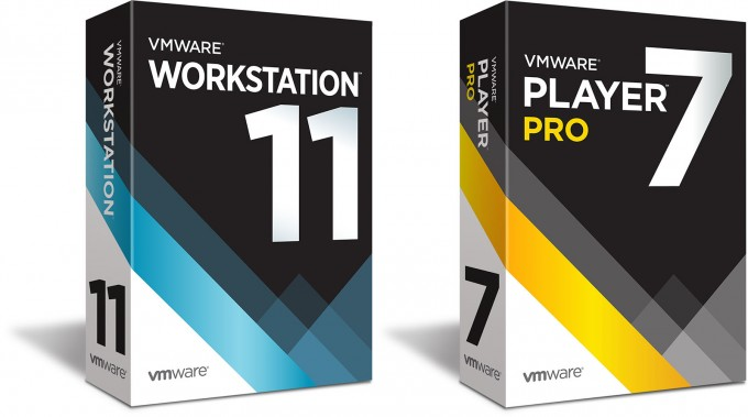 VMware Workstation 11 and Player Pro 7 Box Art