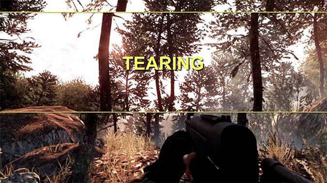 NVIDIA G-SYNC - Tearing Example