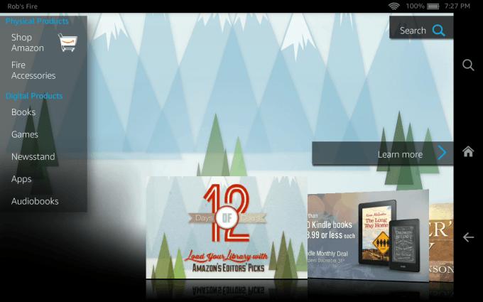 Amazon Fire HD 7 (2014) - Shop Screen