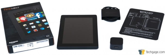 Amazon Fire HD 7 (2014) - Tablet & Packaging