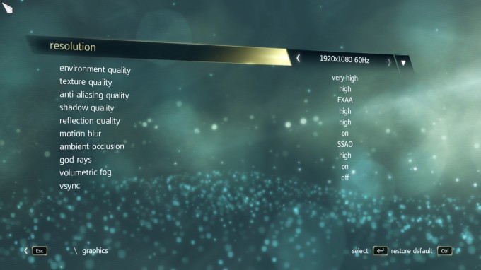 Assassin's Creed IV Black Flag Benchmark Settings