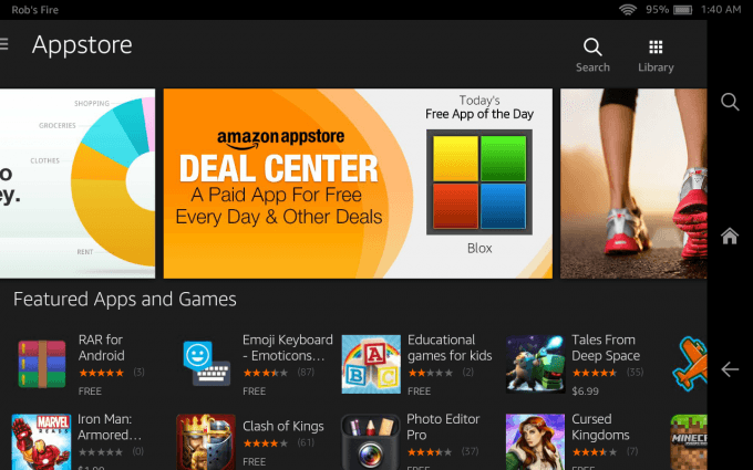 Amazon Fire HD 7 (2014) - App Store