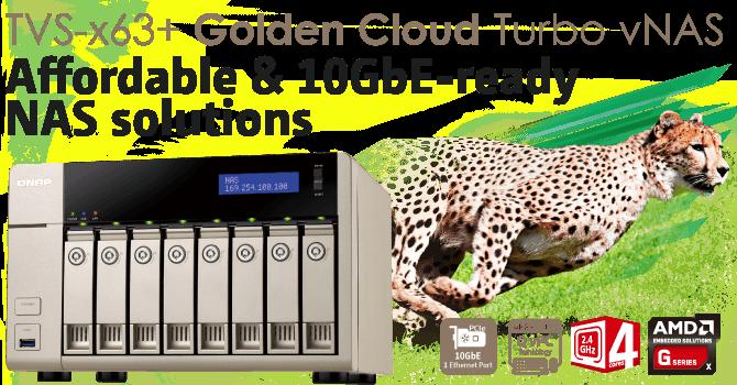 QNAP TVS-x63+ Golden Cloud Turbo vNAS