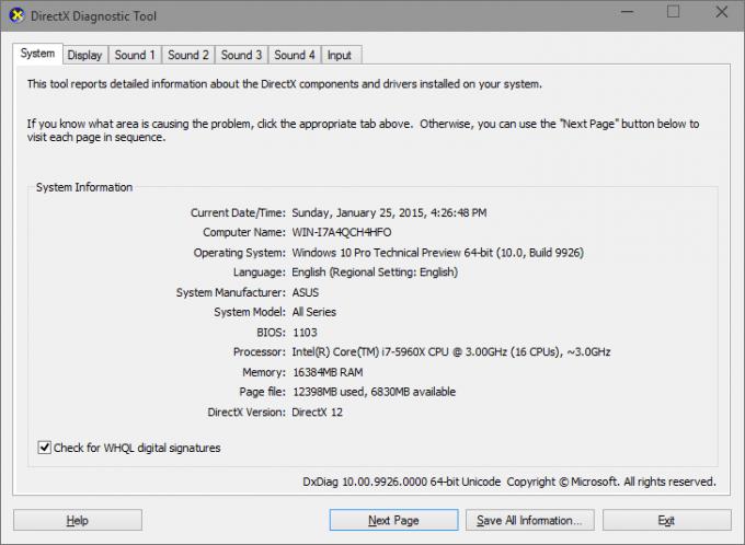 Windows 10 - DirectX 12