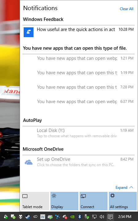 Windows 10 - Notifications Center