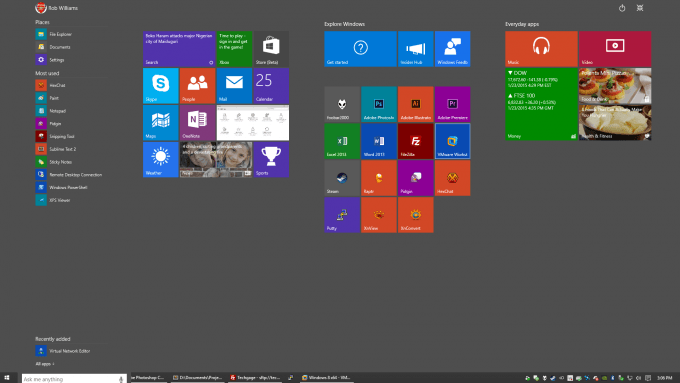 Windows 10 - Start Screen