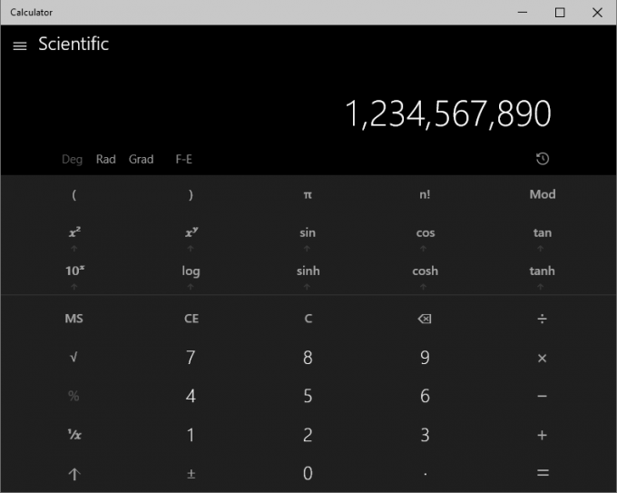 Windows 10 - Updated Calculator