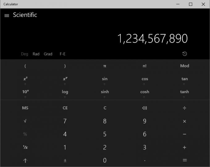 Windows 10 - Updated Calculator