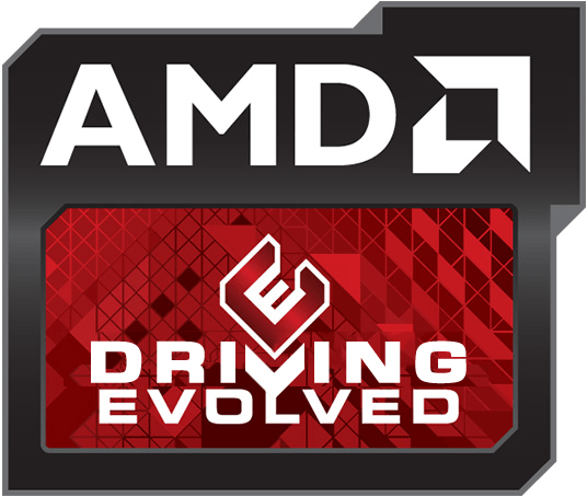 AMD Driving Evolved Logo