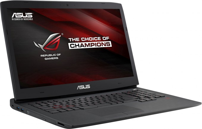 ASUS ROG G751JY Gaming Notebook - Angled View