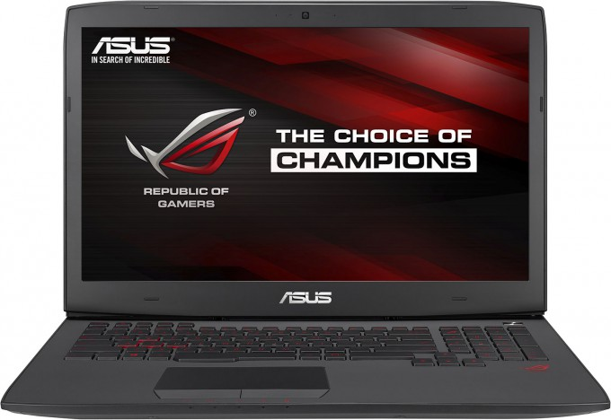 ASUS ROG G751JY Gaming Notebook - Front View
