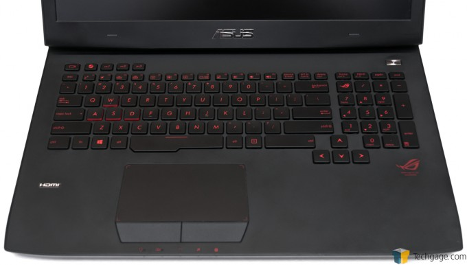 ASUS ROG G751JY Gaming Notebook - Keyboard and Trackpad
