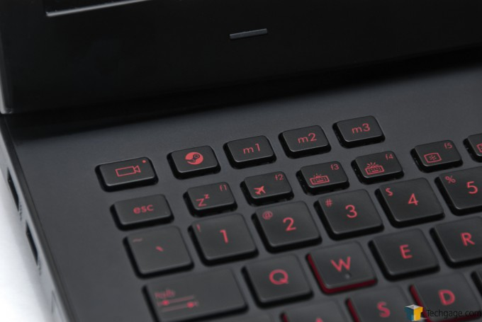 ASUS ROG G751JY Gaming Notebook - Special Keys Close-up