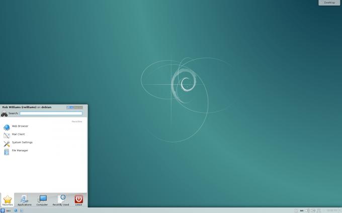 Debian 8 - Fresh KDE Desktop