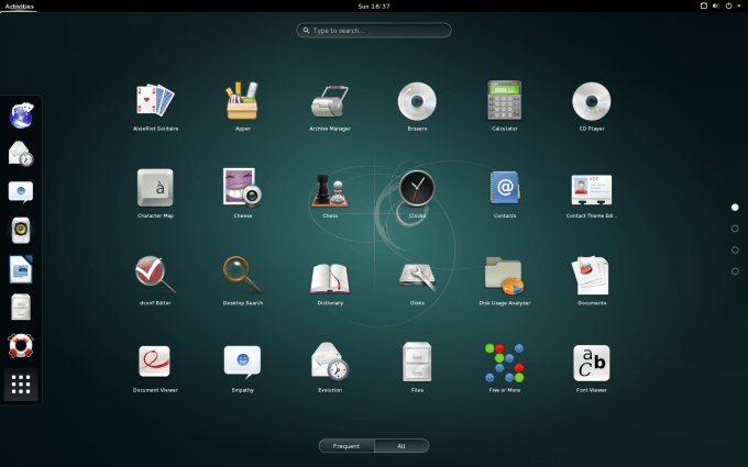 Debian 8 - GNOME Installed Apps