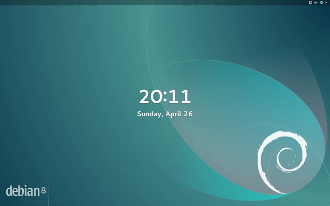 Debian 8 - GNOME Lock Screen