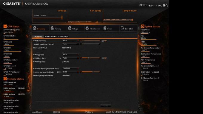 GIGABYTE X99-UD4 EFI - UEFI DualBIOS Orange Theme