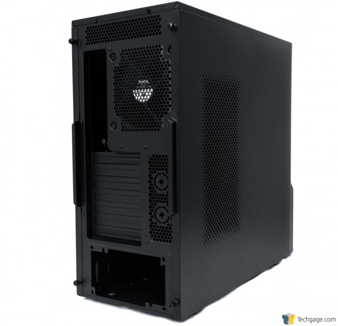 05 - Supermicro S5 Gaming Mid Tower Case - Rear View