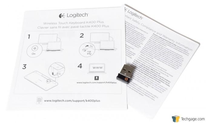 Logitech K400 Plus Keyboard - Instructions & Sensor