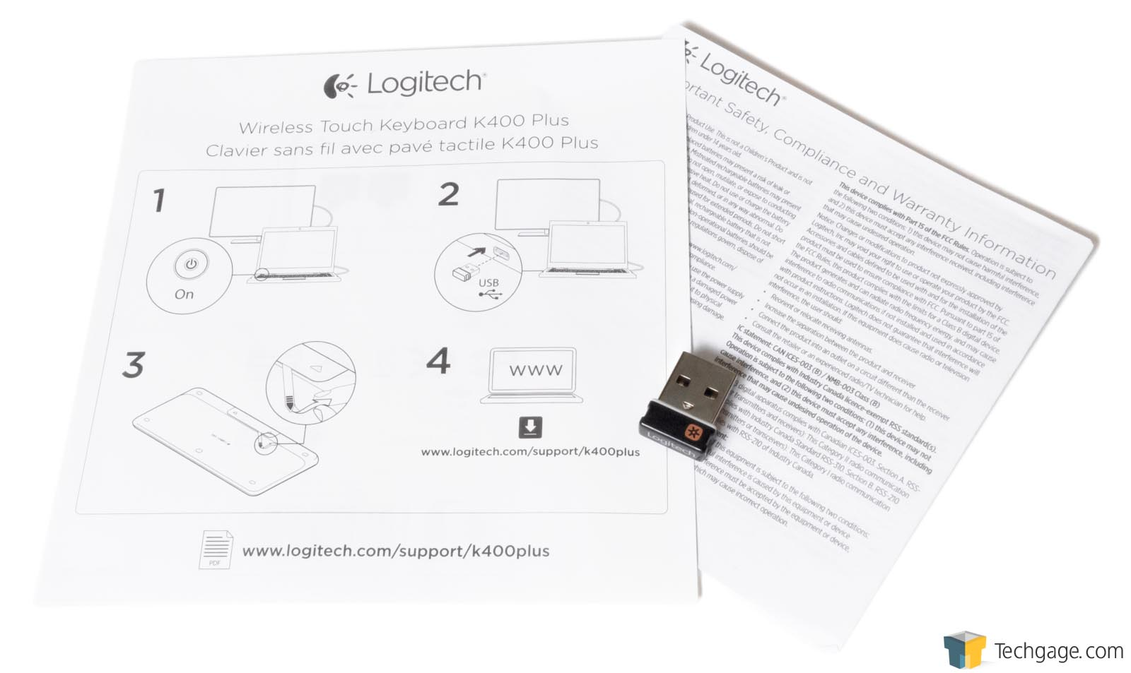 logitech k400 plus instructions