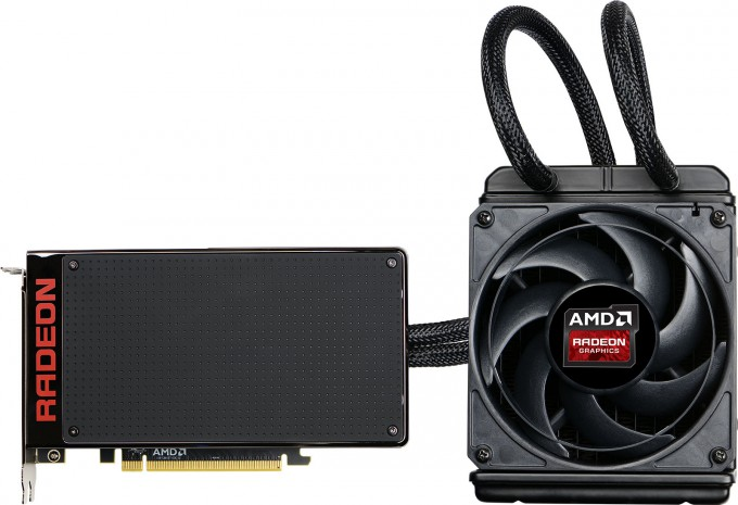 AMD Radeon Fury X Graphics Card - Side View