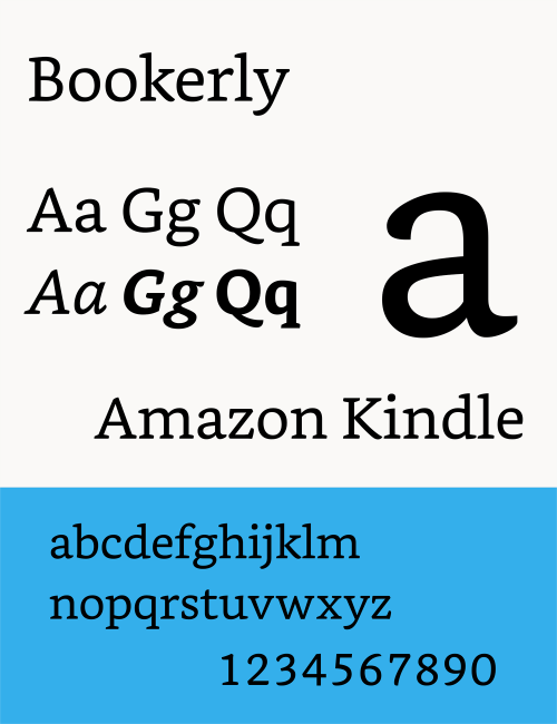 Amazon Kindle - Bookerly Font
