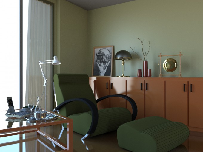 Autodesk 3ds Max 2015 - Room Render Result