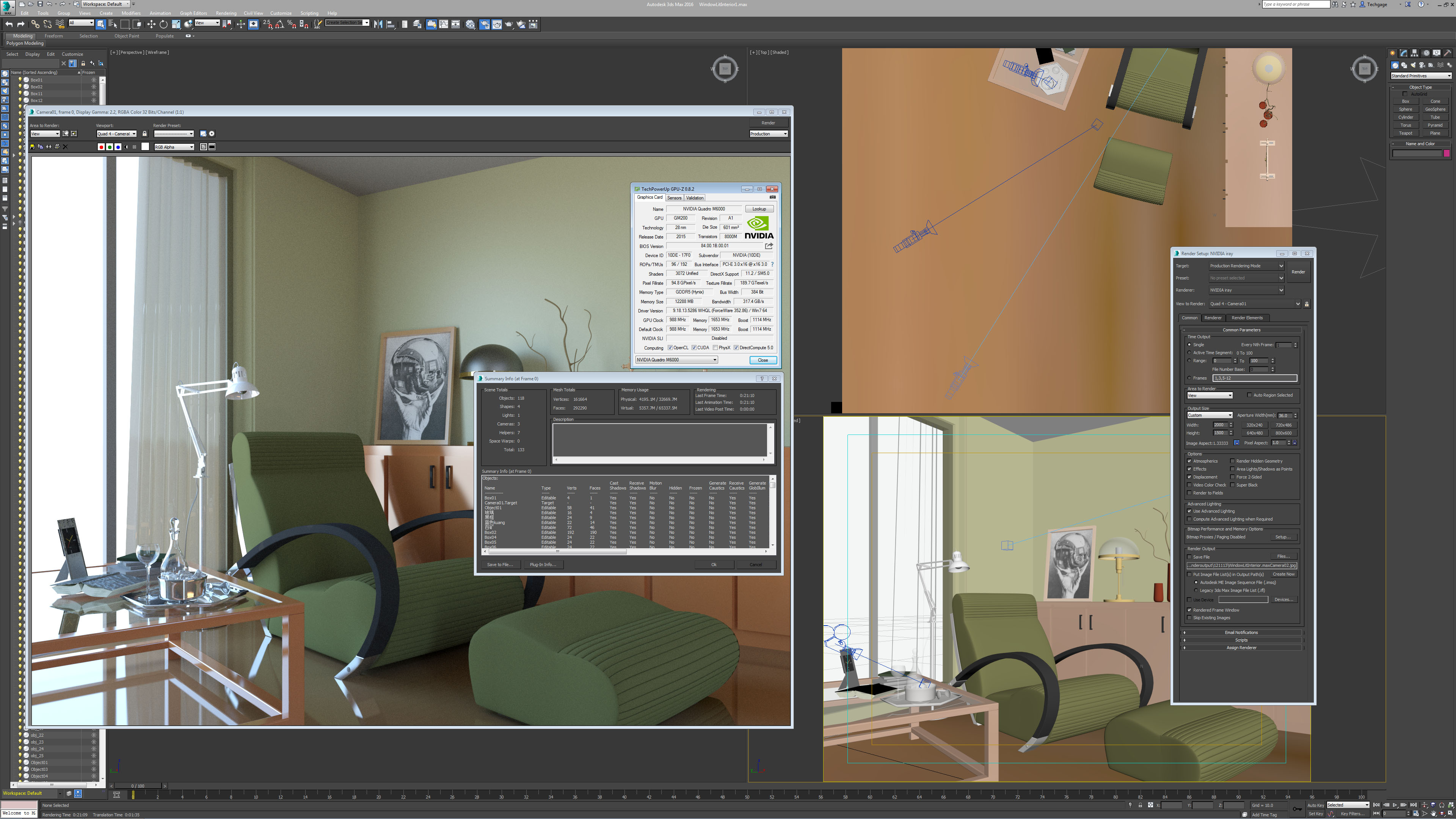 3ds max 2016 s iray renderer packs in a subtle change a for Room design 3ds max