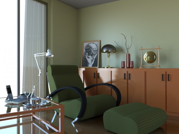 Autodesk 3ds Max 2016 - Room Render Result