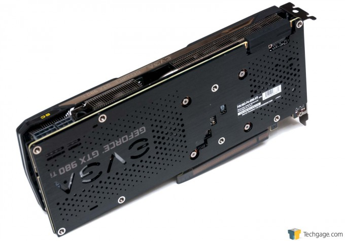 EVGA GeForce GTX 980 Ti Superclocked+ - Back of Card
