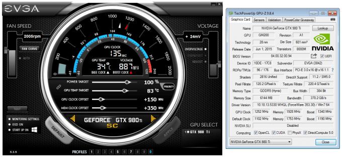 EVGA GeForce GTX 980 Ti Superclocked - Overclock