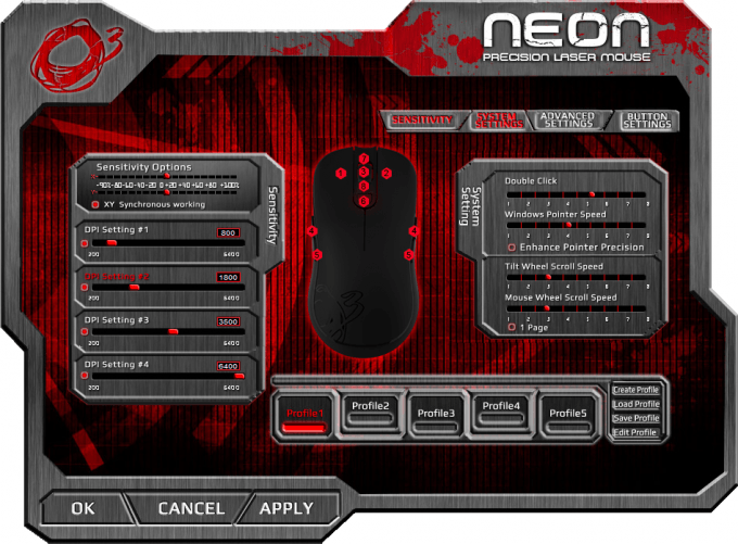 Ozone Gaming Neon Mouse Software 12 System Settings