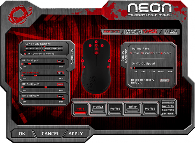 Ozone Gaming Neon Mouse Software 13 Advanced Settings