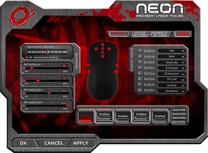 Ozone Gaming Neon Mouse Software 14 Button Settings