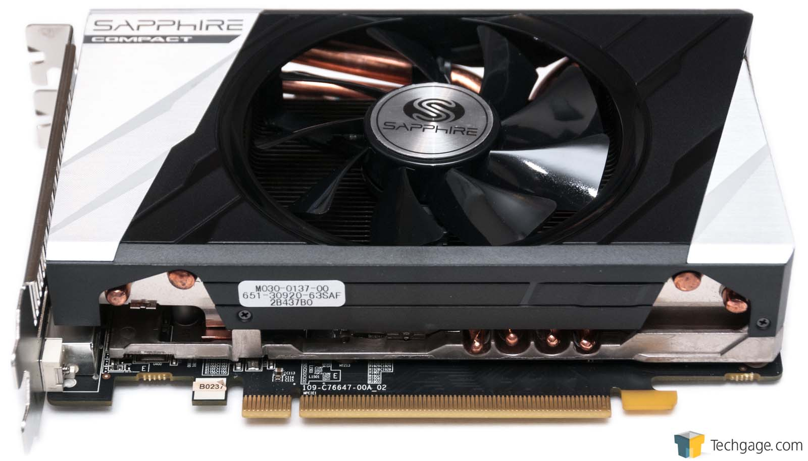 Sapphire Radeon R9 285 Itx Compact Graphics Card Review Techgage Vga His R7 250 2gb Ddr5