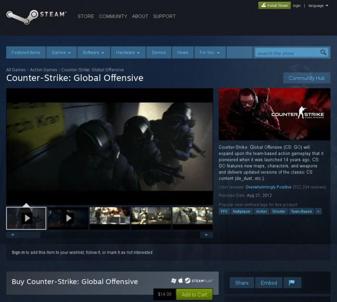 Steam - Counter-Strike Global Offensive