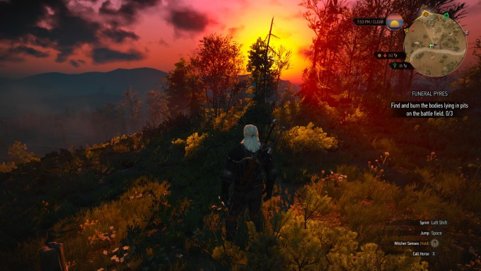 Witcher 3 Wild Hunt - One of Many Beautiful Sunsets_04