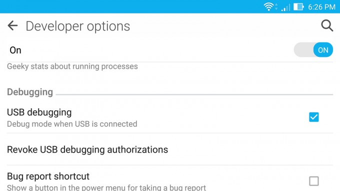 Android Lollipop - Enabling USB Debugging