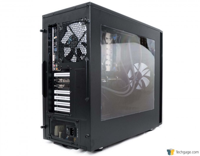 Fractal Design Define S Chassis - Exterior Full System Installed - Back and Side Panel