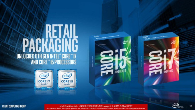 Intel Skylake Retail Packaging