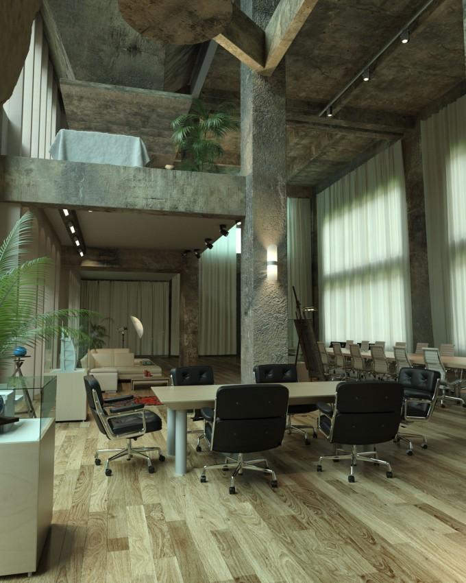 NVIDIA iray Render Sample - Barcelona Loft