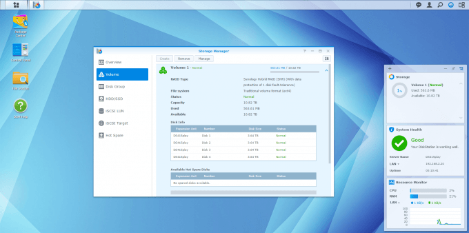 Synology DS415play - DSM Storage Manager