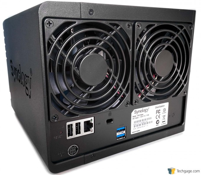 Synology DS415play - Rear Panel