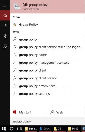 Windows 10 Show or Hide Updates - Start Menu Find Group Policy